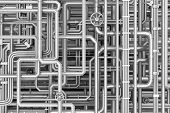 pic of maze  - Maze of metal pipes background - JPG