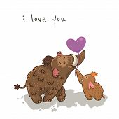picture of mammoth  - I love you - JPG