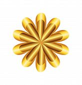 stock photo of freemason  - Flower Golden Ratio Circular symbol vector illustration - JPG