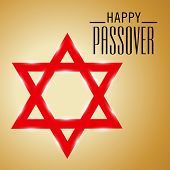image of passover  - illustration for Happy Passover in brown background - JPG