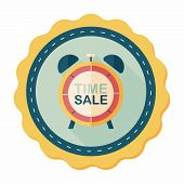 pic of year end sale  - Shopping Limit Sale Flat Icon With Long Shadow - JPG