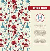 image of sparkling wine  - Wine menu card - JPG