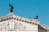 picture of drama  - Architectural Elements And Details Of Building Gomel Regional Drama Theatre On The Main Square Of Lenin - JPG