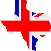picture of texas star  - A vector illustration of a British Texas design - JPG