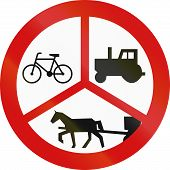 stock photo of carriage horse  - Polish traffic sign - JPG