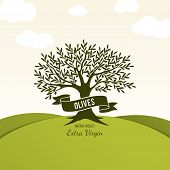 pic of olive trees  - Olive label - JPG