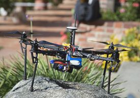 stock photo of modifier  - A modified drone on display. THis drone is really fast and popular with hobbyists. ** Note: Soft Focus at 100%, best at smaller sizes - JPG
