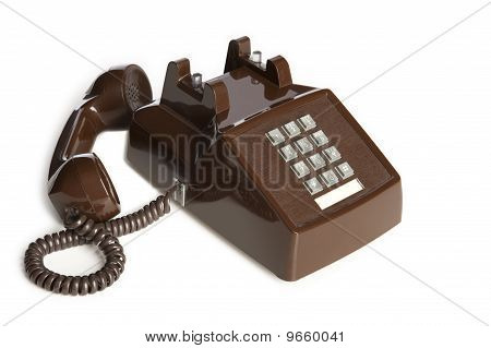 Brown Vintage Desk Phone