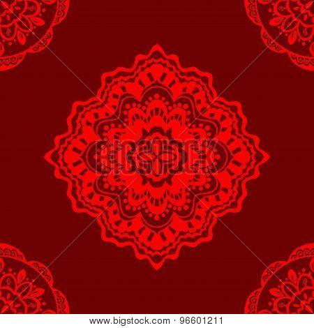 Seamless Red Pattern.