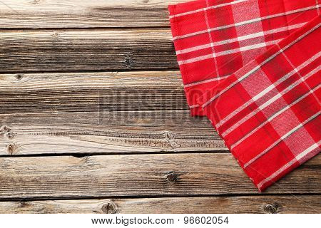 Napkin On Brown Wooden Background