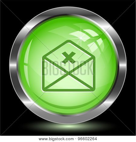 mail cancel. Internet button. Vector illustration.