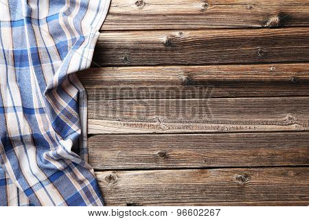 Napkin On Brown Wooden Background