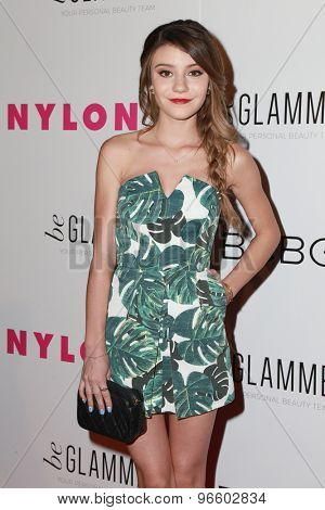 LOS ANGELES - MAY 7:  G. Hannelius at the NYLON Magazine Young Hollywood Issue Party  at the HYDE Sunset on May 7, 2015 in West Hollywood, CA