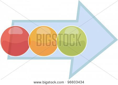 blank business strategy concept infographic process arrow diagram illustration three 3 steps