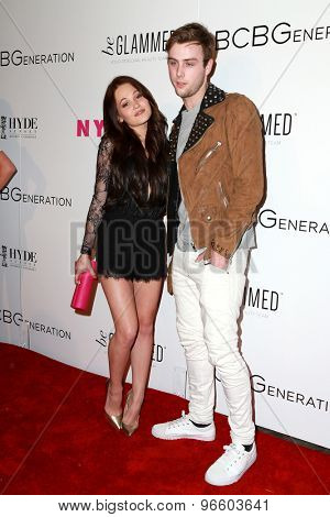 LOS ANGELES - MAY 7:  Kelli Berglund, Sterling Beaumon at the NYLON Magazine Young Hollywood Issue Party  at the HYDE Sunset on May 7, 2015 in West Hollywood, CA