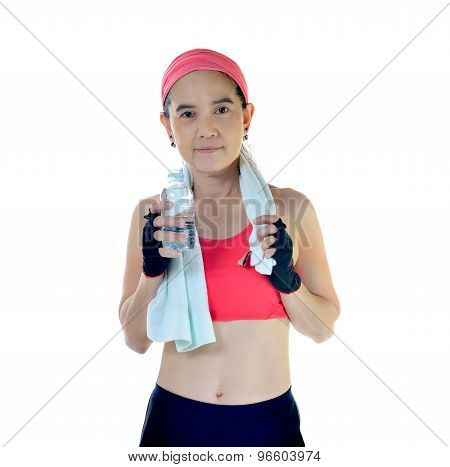 Woman with exercise