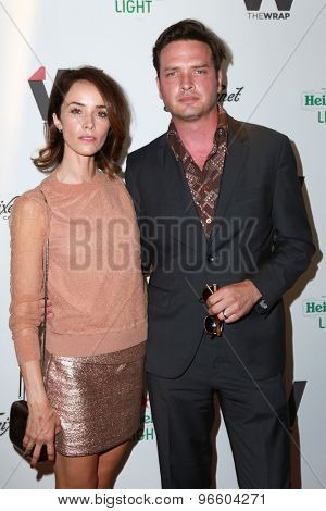 LOS ANGELES - JUN 11:  Abigail Spencer, Aden Yang at the TheWrap's 2nd Annual Emmy Party at the London Hotel on June 11, 2015 in West Hollywood, CA
