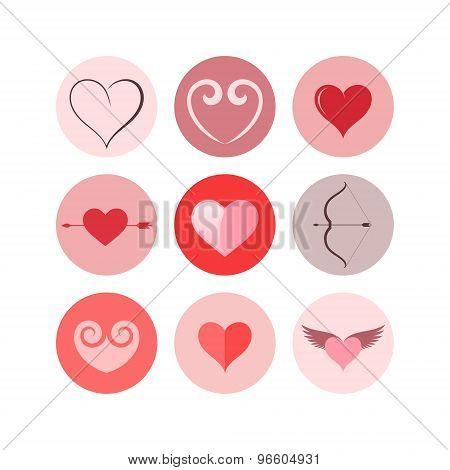 Heart. Icon set