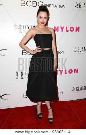 LOS ANGELES - MAY 7:  Sofia Carson at the NYLON Magazine Young Hollywood Issue Party  at the HYDE Sunset on May 7, 2015 in West Hollywood, CA