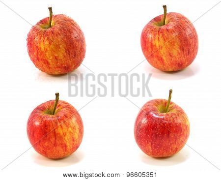 Red Apple Collage Isolated On White Background