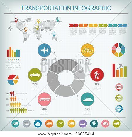 Transportation Infographics Elements.