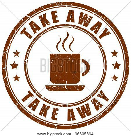 Take away coffee stamp