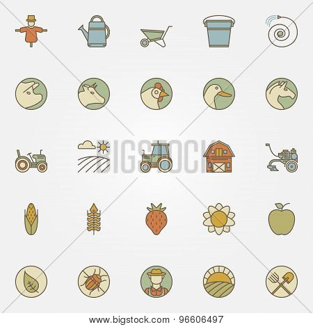 Agriculture icons collection