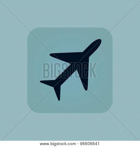 Pale blue plane icon