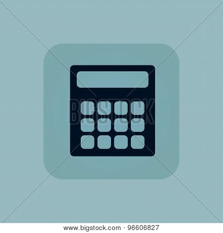 Pale blue calculator icon