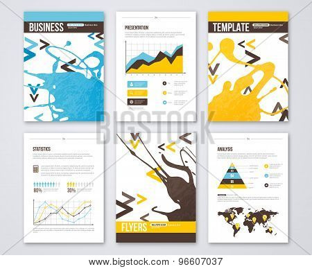 Set of Vector Poster Templates with Paint Splash.