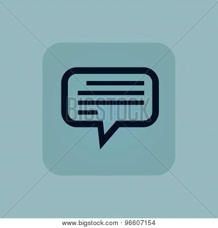 Pale blue text message icon