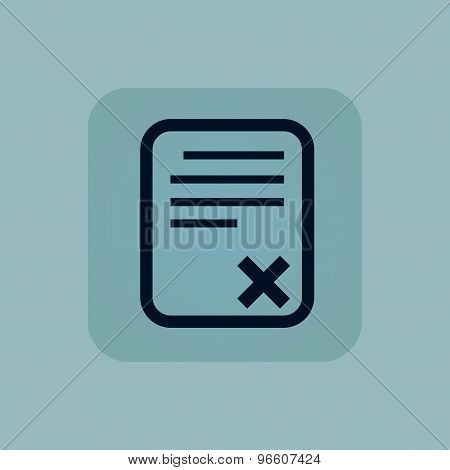 Pale blue declined document icon