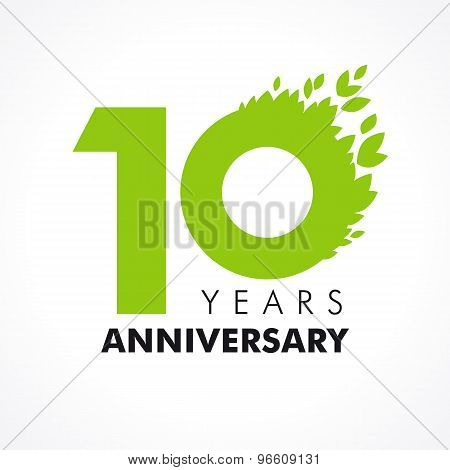 10 anniversary leaves logo