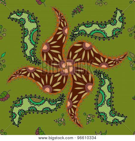 Vector Seamless Ethnic Pattern
