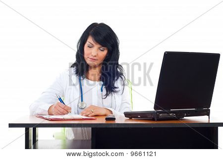 Confident Doctor Woman In Office