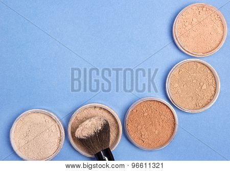 Different Shades Of Loose Cosmetic Powder Background