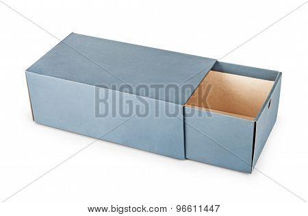 Blank Box Isolated Over White Background