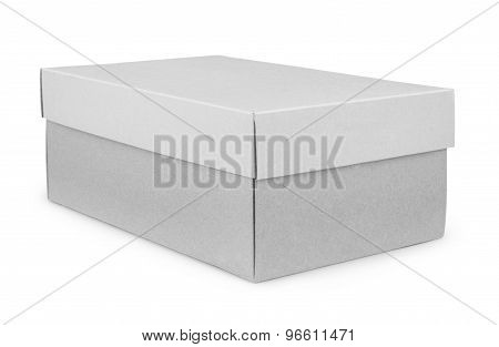 Shoe Box Isolated On White With Clipping Path