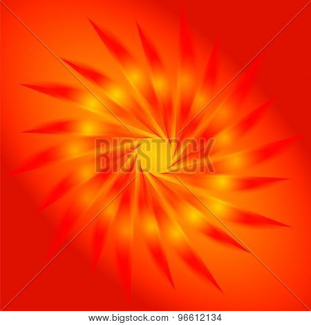 Abstract circular orange background