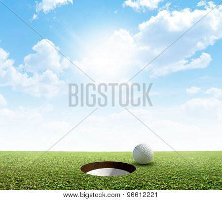 Blue Sky And Putting Green
