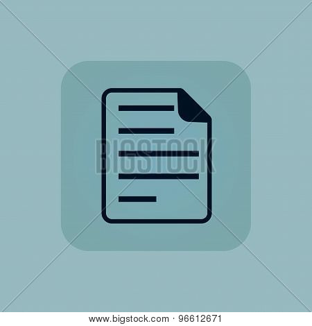Pale blue document icon