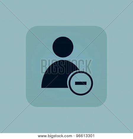 Pale blue remove user icon