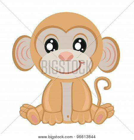 Little monkey on a white background.children clip-art.