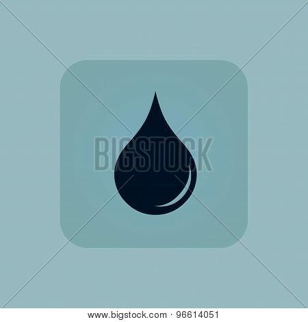 Pale blue water drop icon