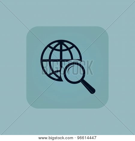 Pale blue global search icon