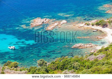 Corsica Island, Cupabia Gulf. Coastal Landscape