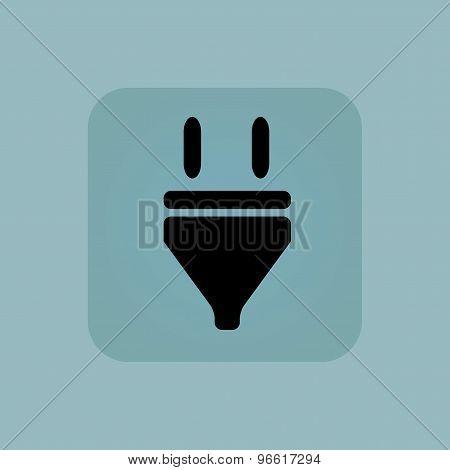 Pale blue plug icon