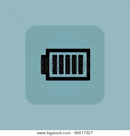 Pale blue charged battery icon