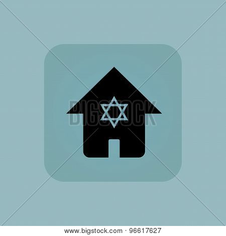 Pale blue jewish house icon