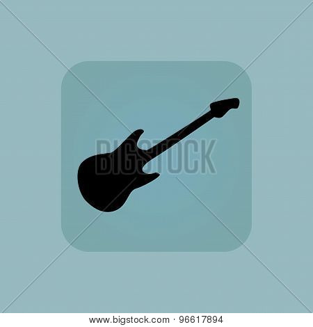 Pale blue guitar icon